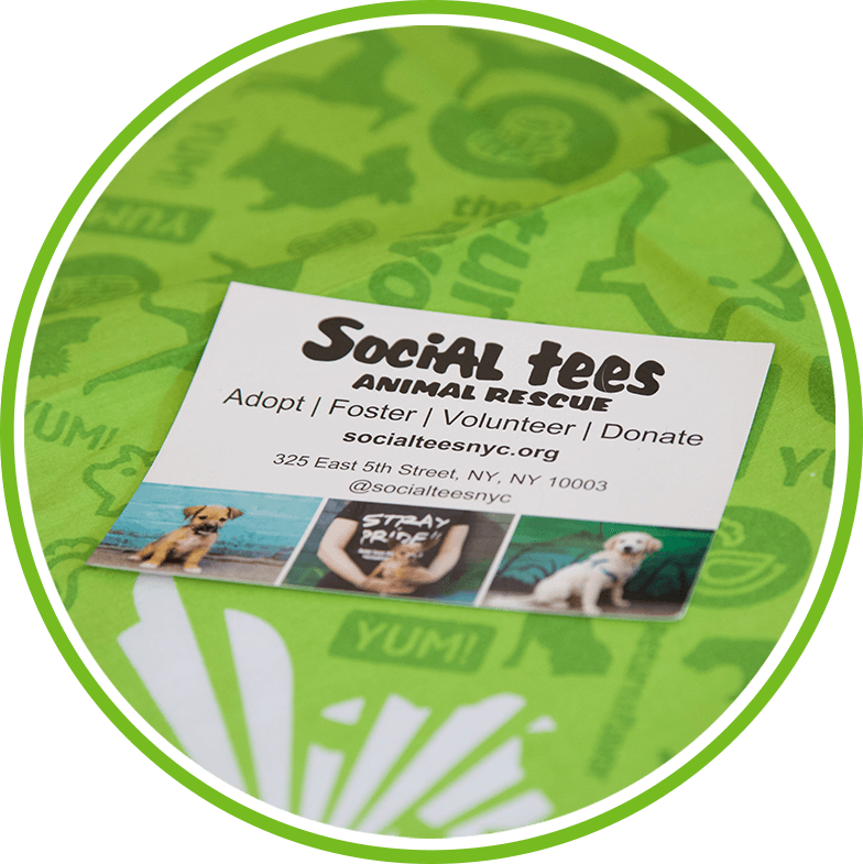 Social tees Animal Rescue card